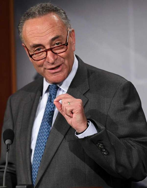 Sen. Charles Schumer (D-N.Y.) speaks during a news