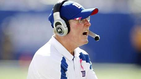 Tom Coughlin, head coach of the New York
