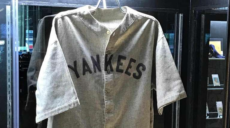 8785c02711e Babe Ruth game-worn 1920s Yankees jersey could set new auction ...