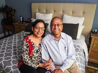Drs. Prem and Sushil Sagar inside the master