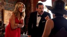 Jennifer Aniston, Adam Sandler and Gemma Arterton in