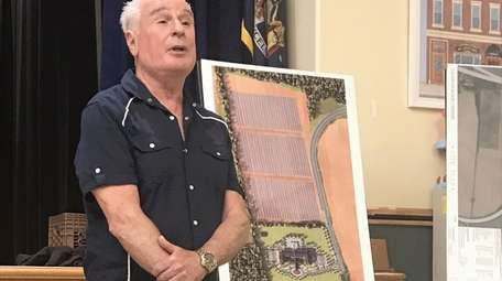 Developer Vincent DiCanio told residents at a civic
