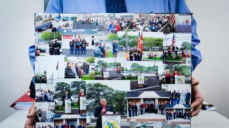 A photo collage shows the flag-raising to honor