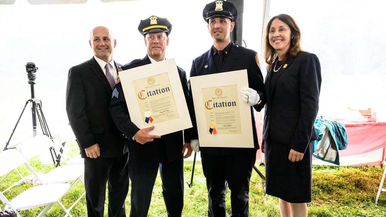 Nassau County and Suffolk County police commissioners awarded