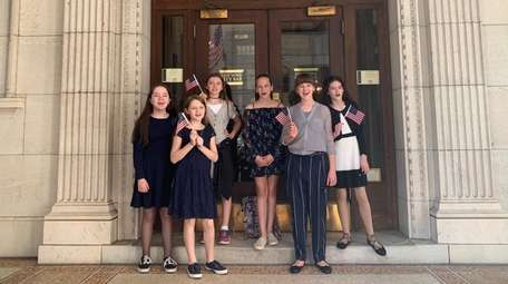 Sixth-graders from the Northport-East Northport school district presented