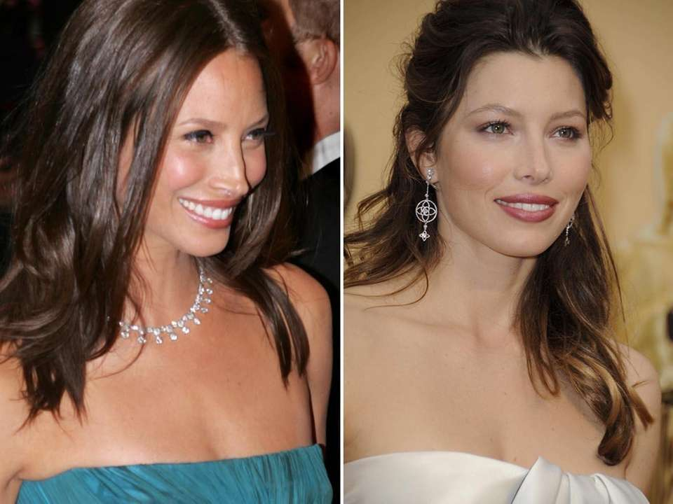 Supermodel Christy Turlington, left, and actress Jessica Biel.