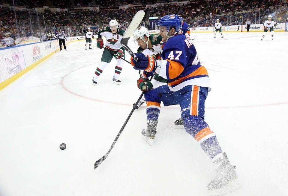 Andrew MacDonald #47 of the New York Islanders