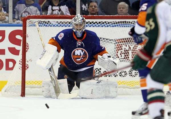Al Montoya #35 of the New York Islanders