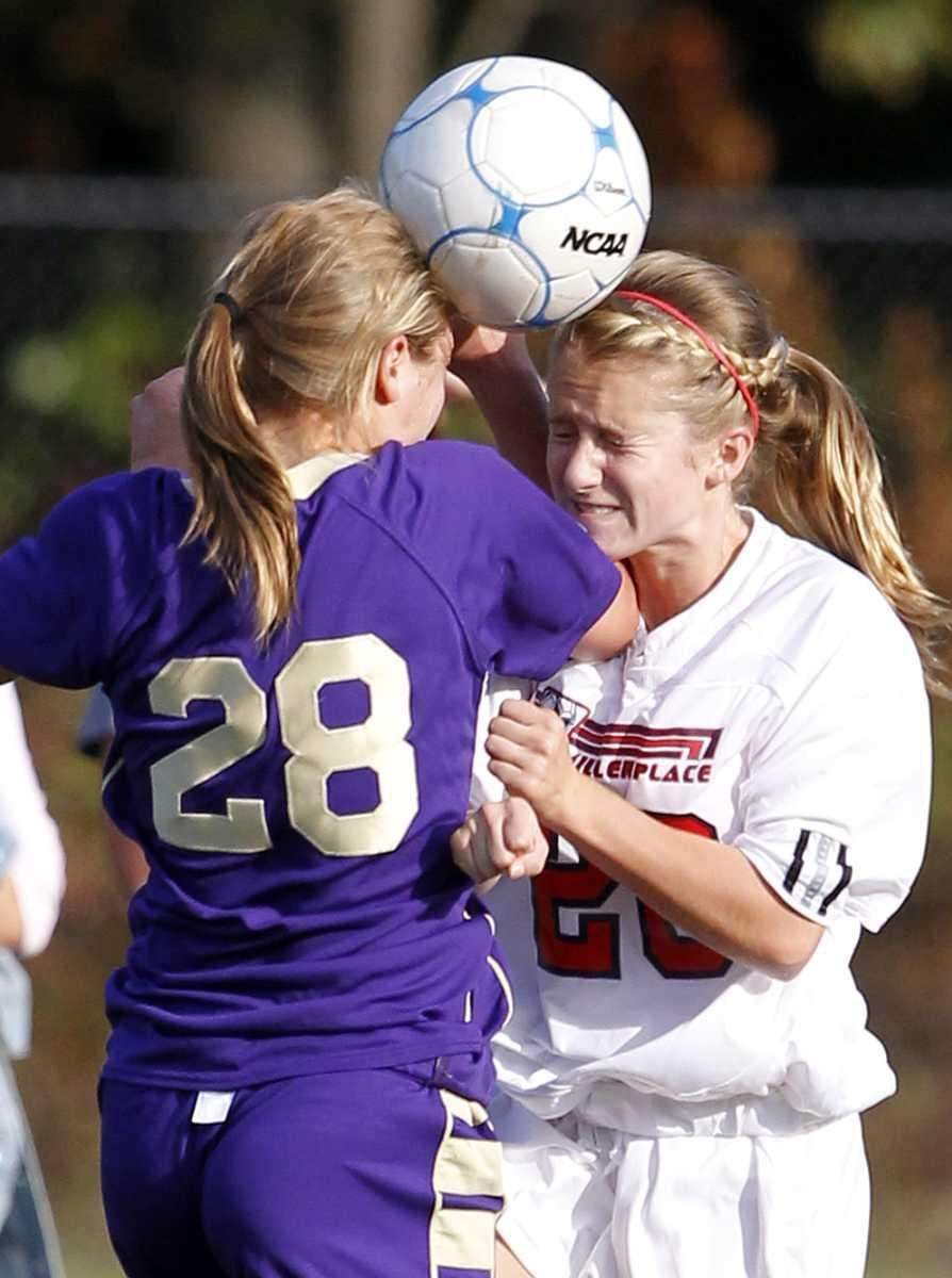 Sayville's Jacqueline Christensen (28) and Miller Place's Anna