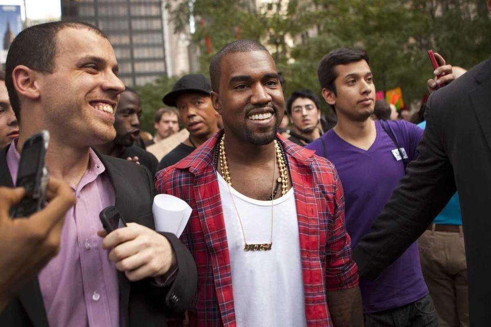 Kanye West visits the