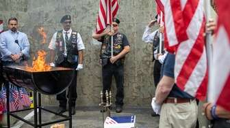 In recognition of Flag Day, members of Long