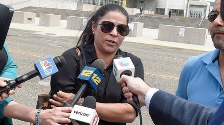 Lourdes Banegas, the mother of Michael Lopez Banegas,