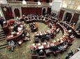 State senators consider legislation on May 8, 2019