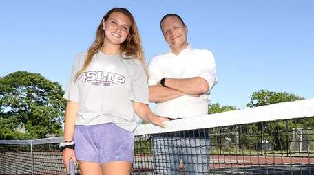 Maddie Germano and her father Charles at the