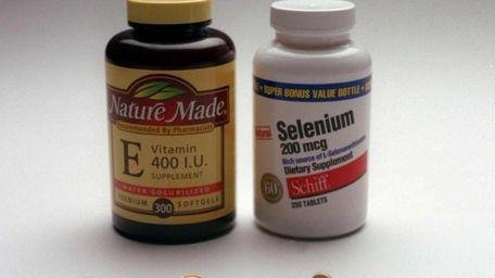 Newsday studio illustration of vitamin E capsules and