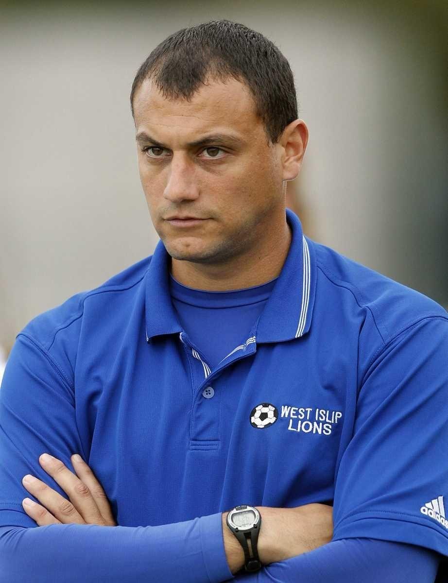 West Islip girls varsity soccer head coach Nick