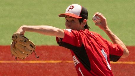 Pierson pitcher Matt Hall throws against Tuckahoe during