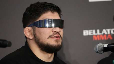 Dillon Danis appears at a Bellator MMA news