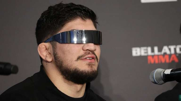 Dillon Danis appears at a Bellator MMA news