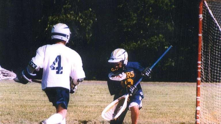 Louis Acompora was an avid lacrosse player. Above,