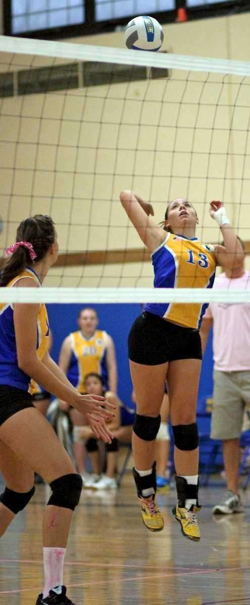 West Islip's Erin Byrnes #13 sets up to