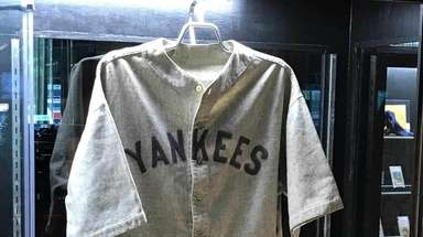 A Babe Ruth game-worn Yankees jersey from the