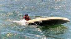 A kayaker had to be rescued in Long