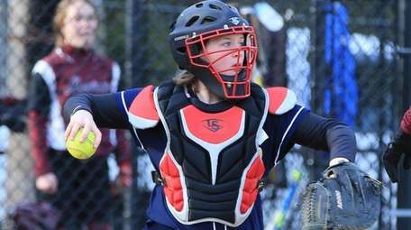 Melissa Marchese was a catcher on her high