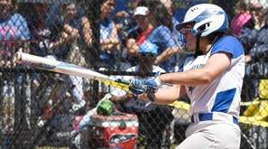 East Meadow's Rosanna Cuttone (31) bats against Corning-Painted