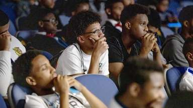 Youth from across Long Island listen to journalist
