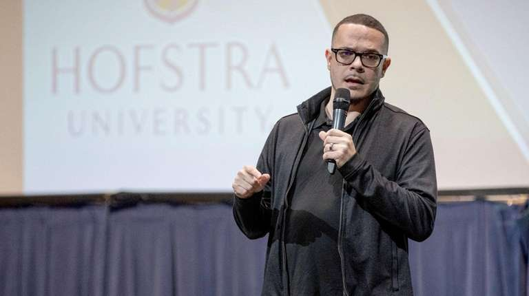 Shaun King, a journalist, delivers his keynote speech
