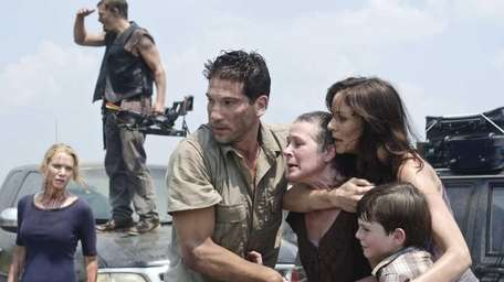 Andrea (Laurie Holden), Daryl Dixon (Norman Reedus), Shane