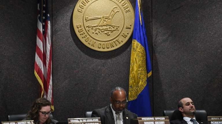 Presiding Officer DuWayne Gregory (D-Copiague) speaks during a