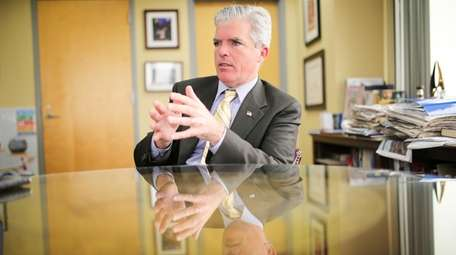 Suffolk County Executive Steve Bellone speaks during an