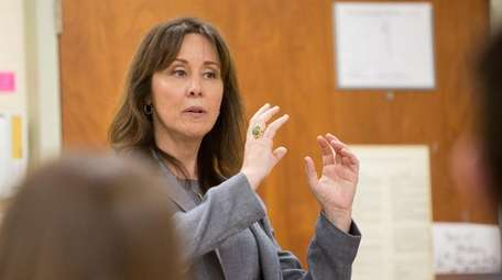 Suffolk County Police Commissioner Geraldine Hart during an