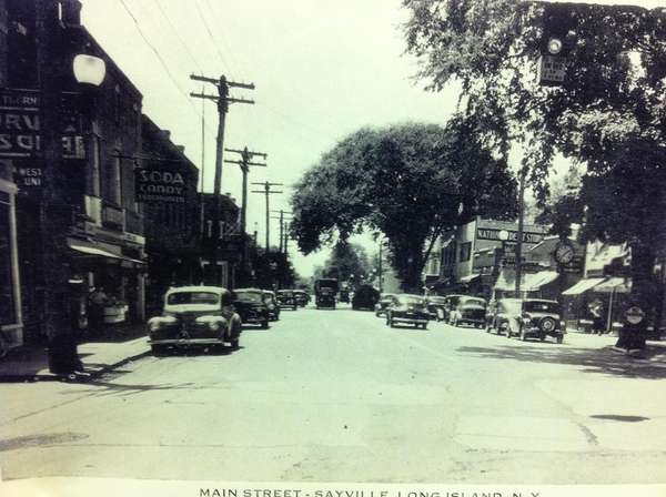 An undated photo of Main Street in Sayville,