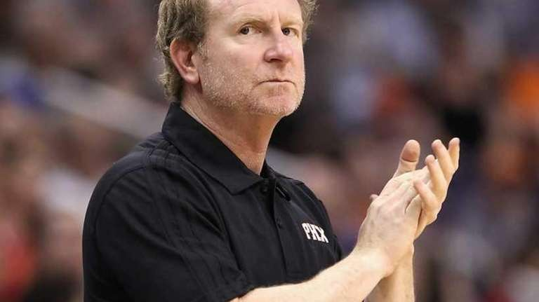 Owner Robert Sarver of the Phoenix Suns reacts