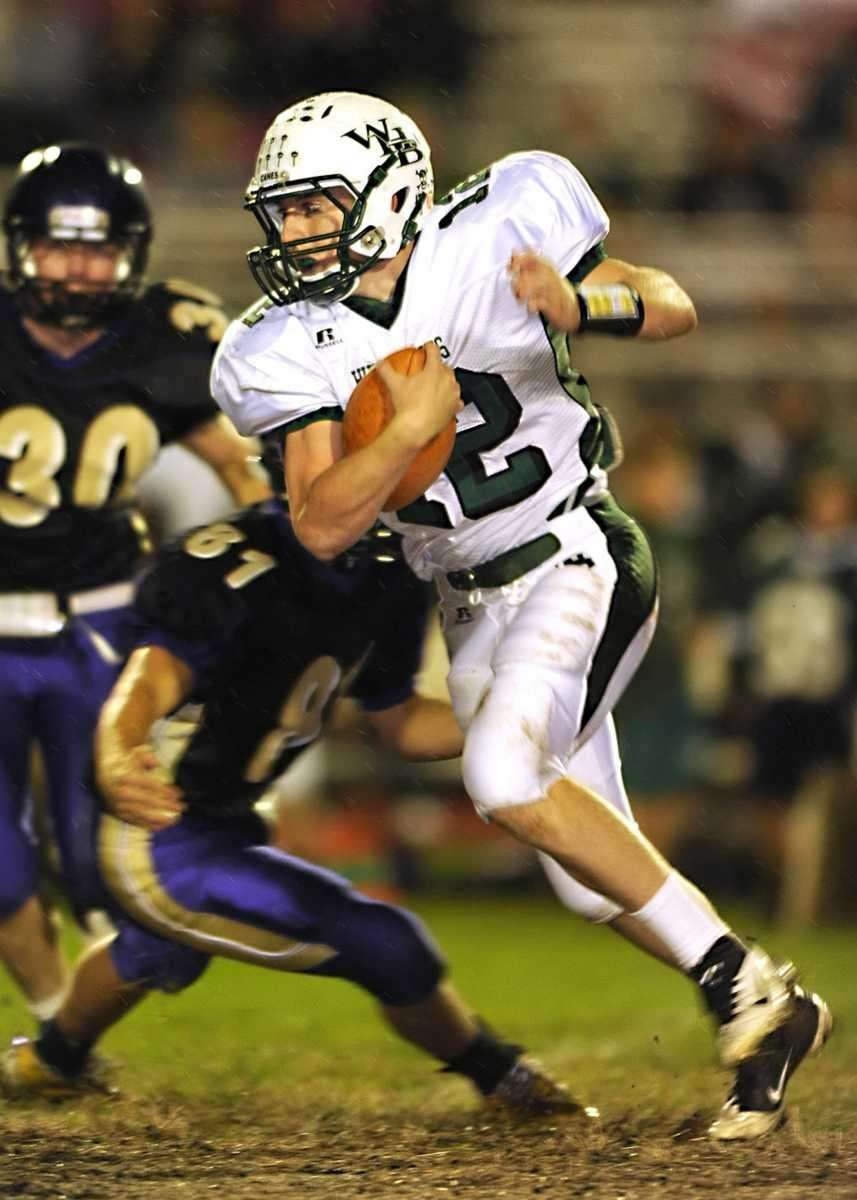 Westhampton's Brian Corrigan (12) breaks through the Islip