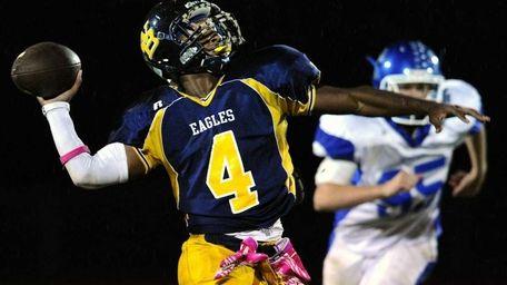 West Babylon High School quarterback #4 Michael Richardson