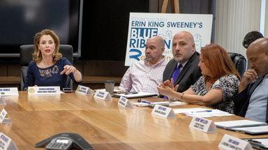 Hempstead Town Councilwoman Erin King Sweeney leads a