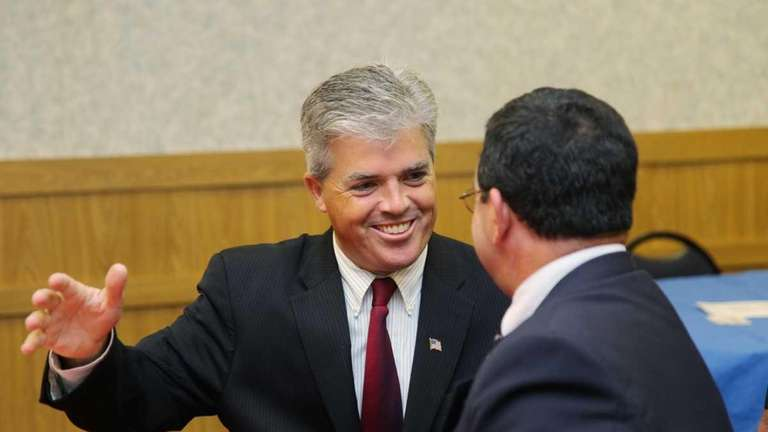 Steve Bellone, candidate for Suffolk County Executive, makes