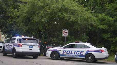 Suffolk County police investigate Sunday in Wyandanch where