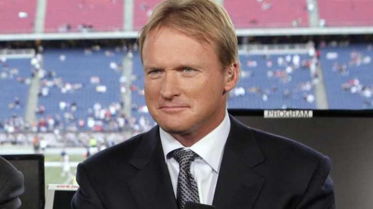 ESPN broadcaster Jon Gruden is shown before an