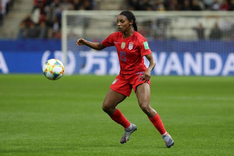 USA's Crystal Dunn in action during a 2019