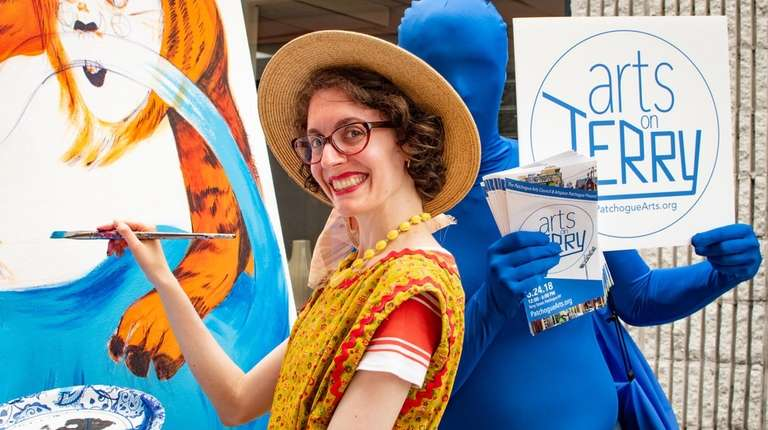 Local illustrator Amanda Reilly will be painting away
