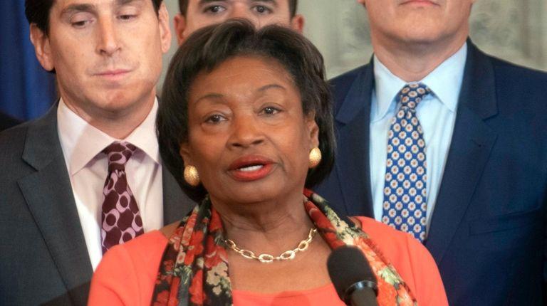 State Senate Majority Leader Andrea Stewart-Cousins (D-Yonkers) allowed