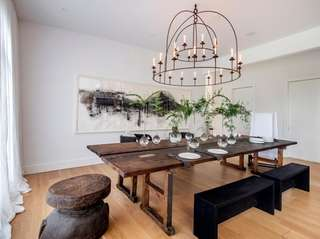 The dining room by Chicago designer Michael di