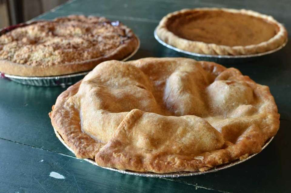 Homemade apple pie such as that in the