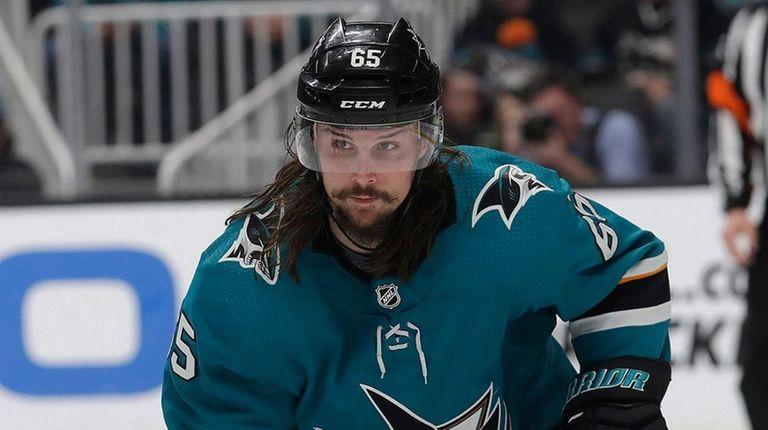 San Jose Sharks defenseman Erik Karlsson against the