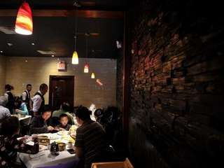Patrons dine at The Orient in Bethpage. (Oct.